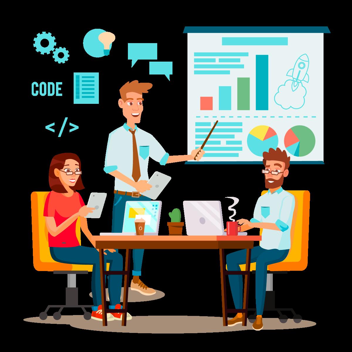 —Pngtree—team work brainstorming vector presentation_5204715